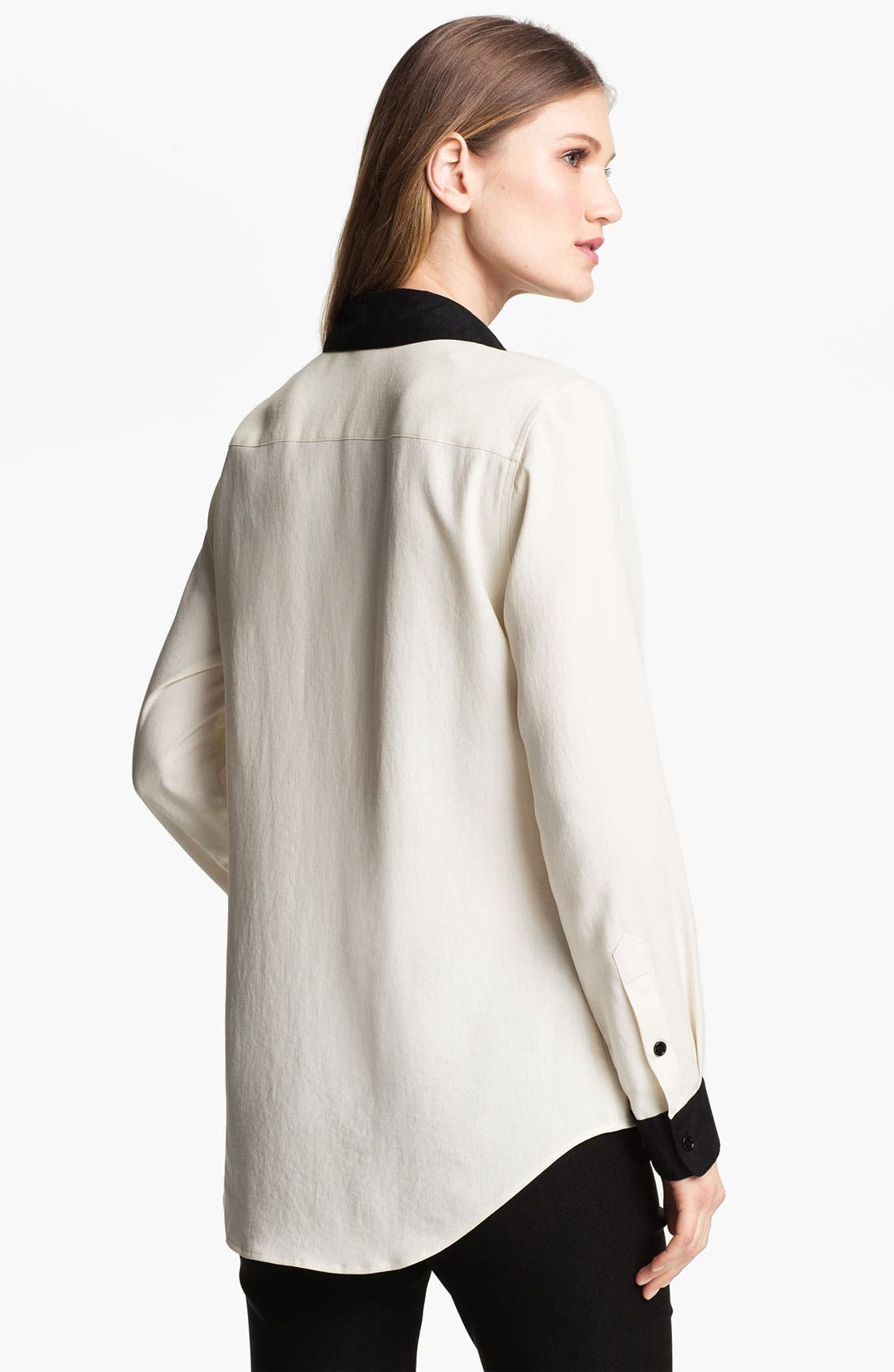 Alternate Image 2  - Nexx Contrast Trim Silk Blouse