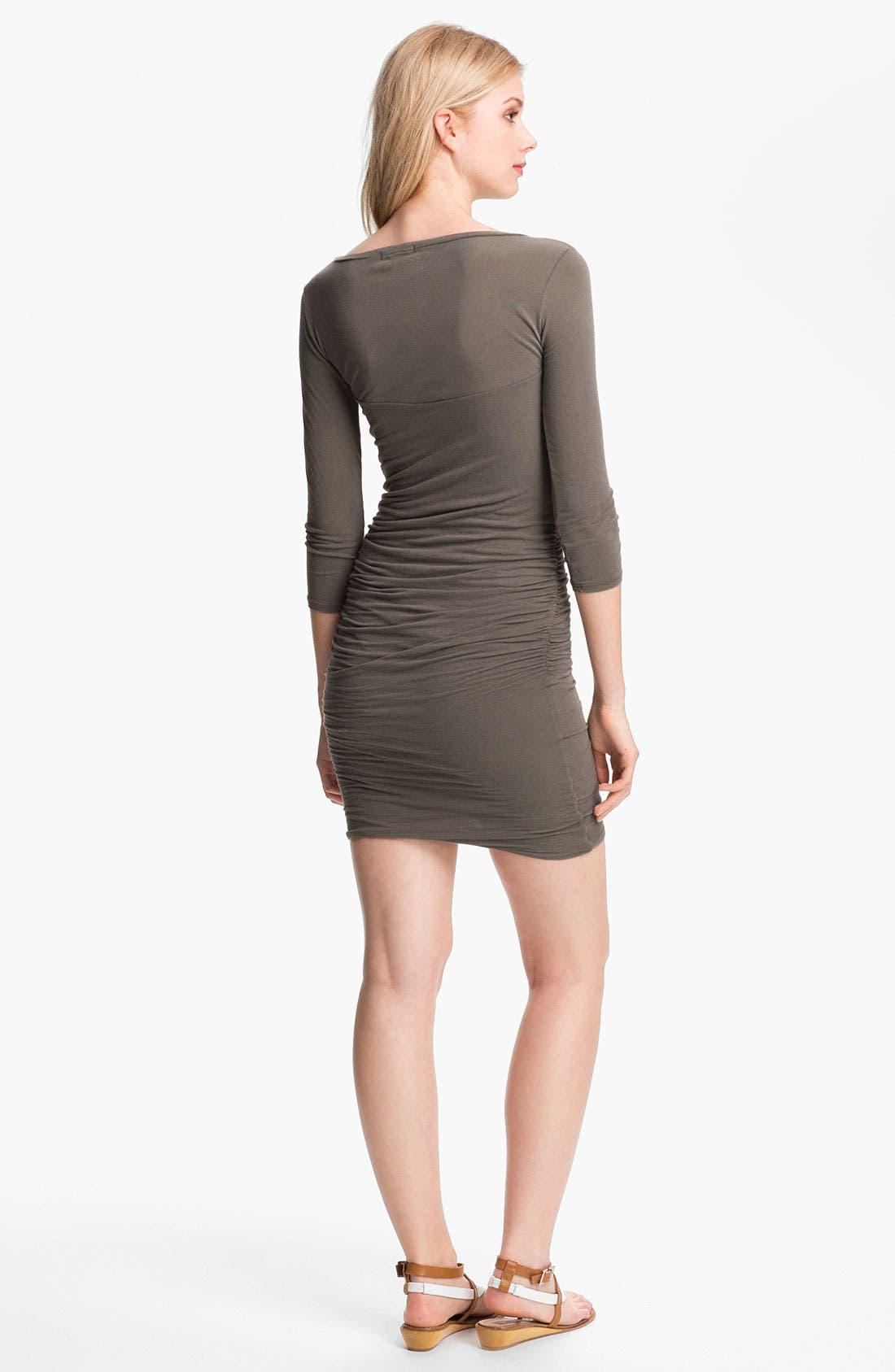 Alternate Image 2  - James Perse Ruched V-Neck Dress