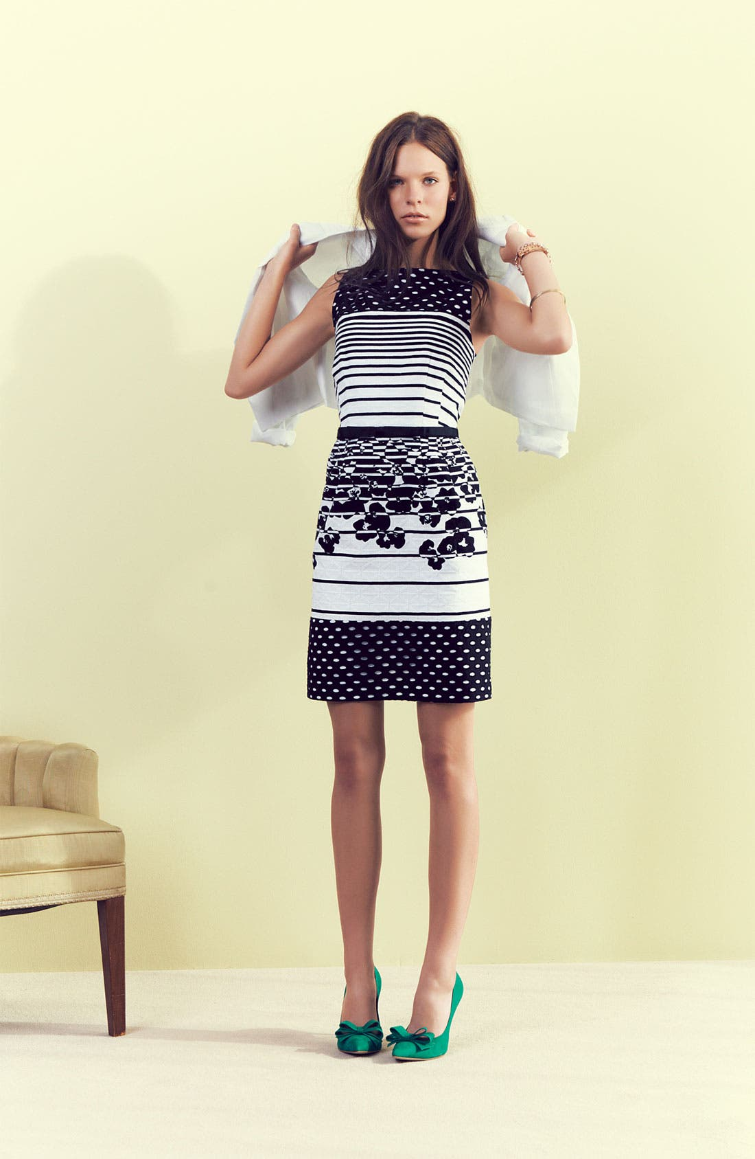 Alternate Image 4  - Taylor Dresses Jacquard Print Sheath Dress