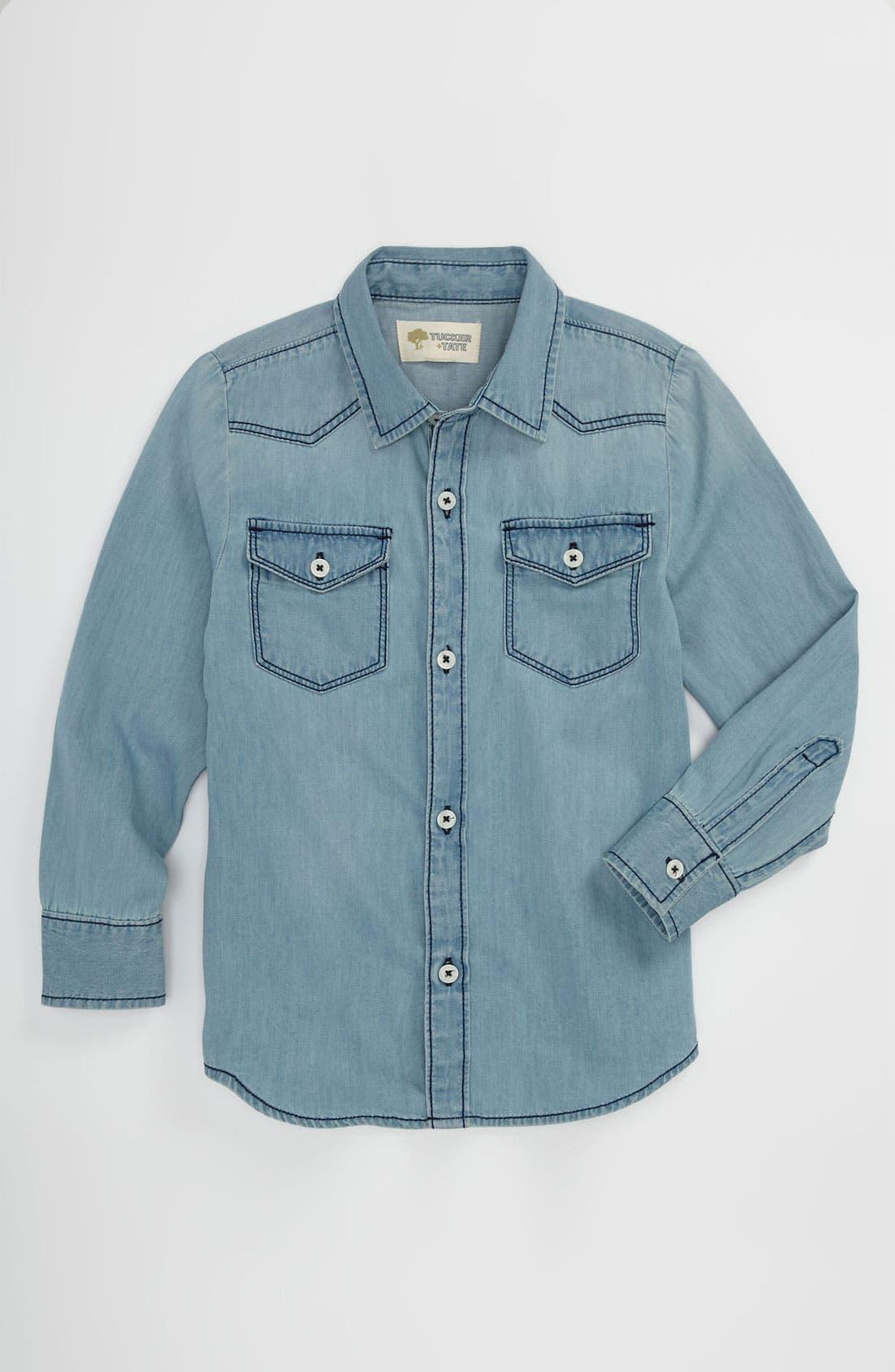 Alternate Image 1 Selected - Tucker + Tate 'Benson' Denim Shirt (Big Boys)