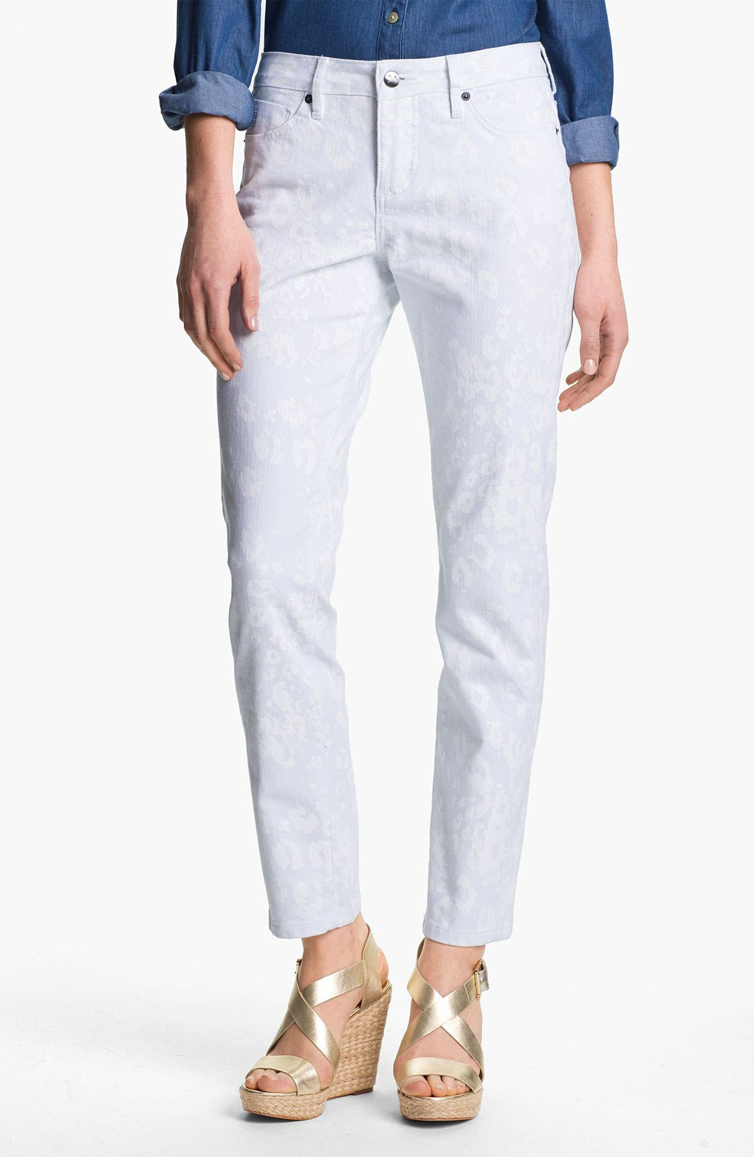 Main Image - Christopher Blue 'Isabel' Print Skinny Ankle Jeans