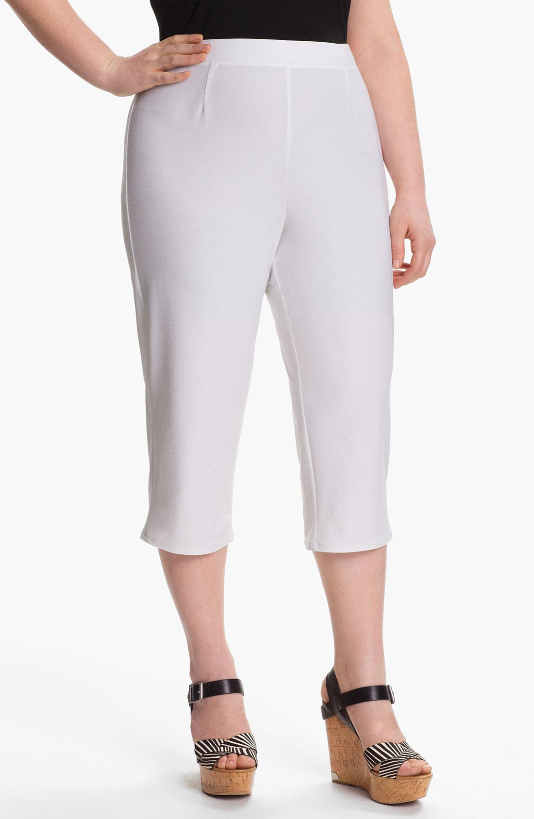 Alternate Image 1 Selected - Eileen Fisher Slim Capris (Plus)