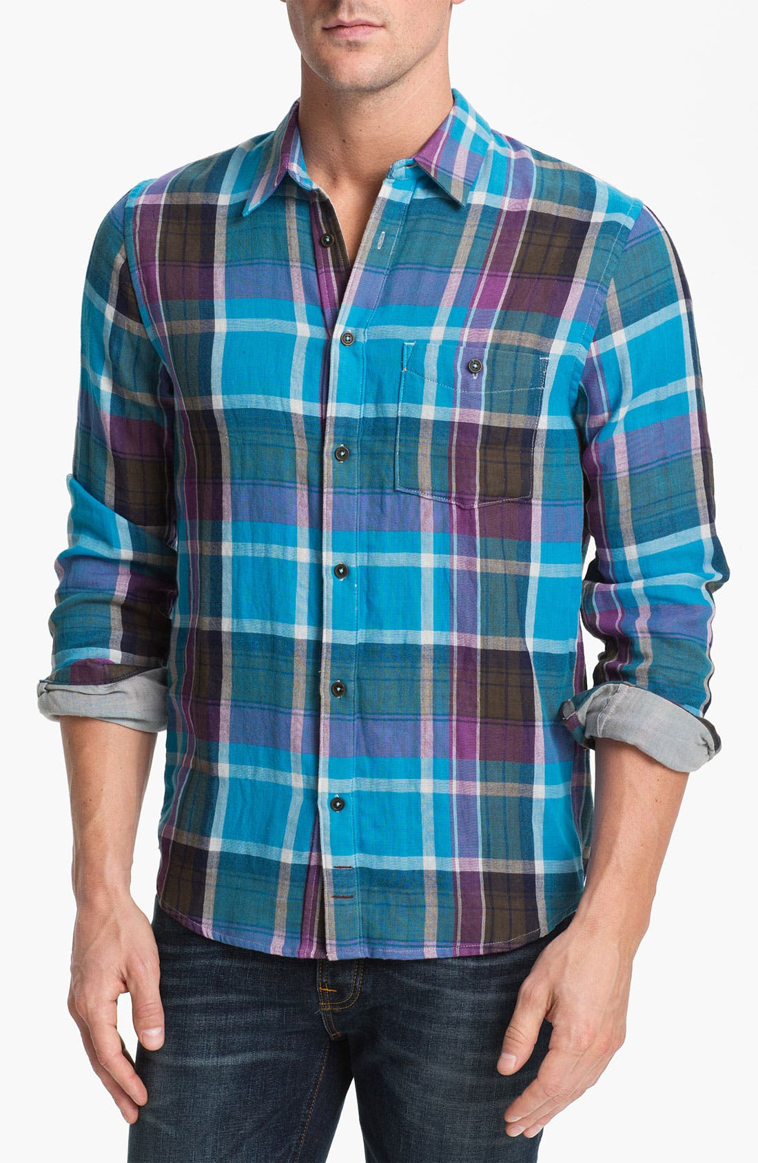 Alternate Image 1 Selected - 7 For All Mankind® Plaid Woven Shirt