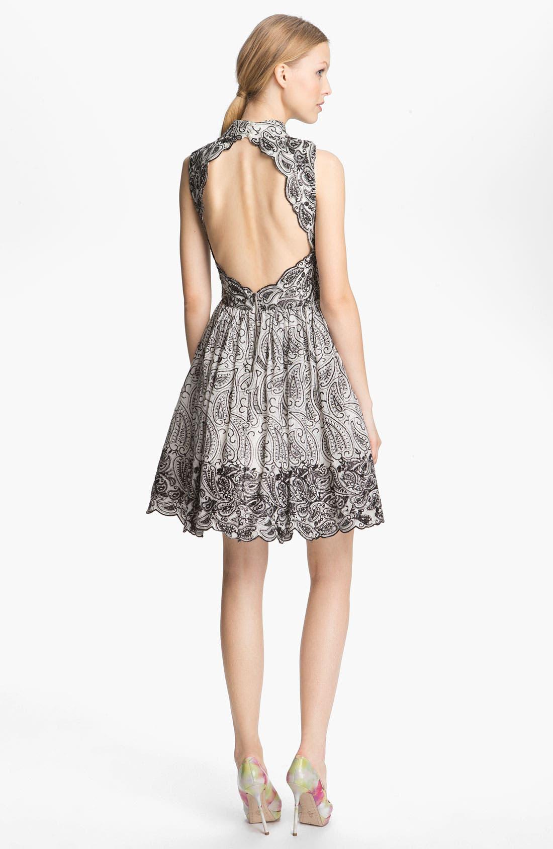 Alternate Image 2  - Alice + Olivia Paisley Print Flared Dress