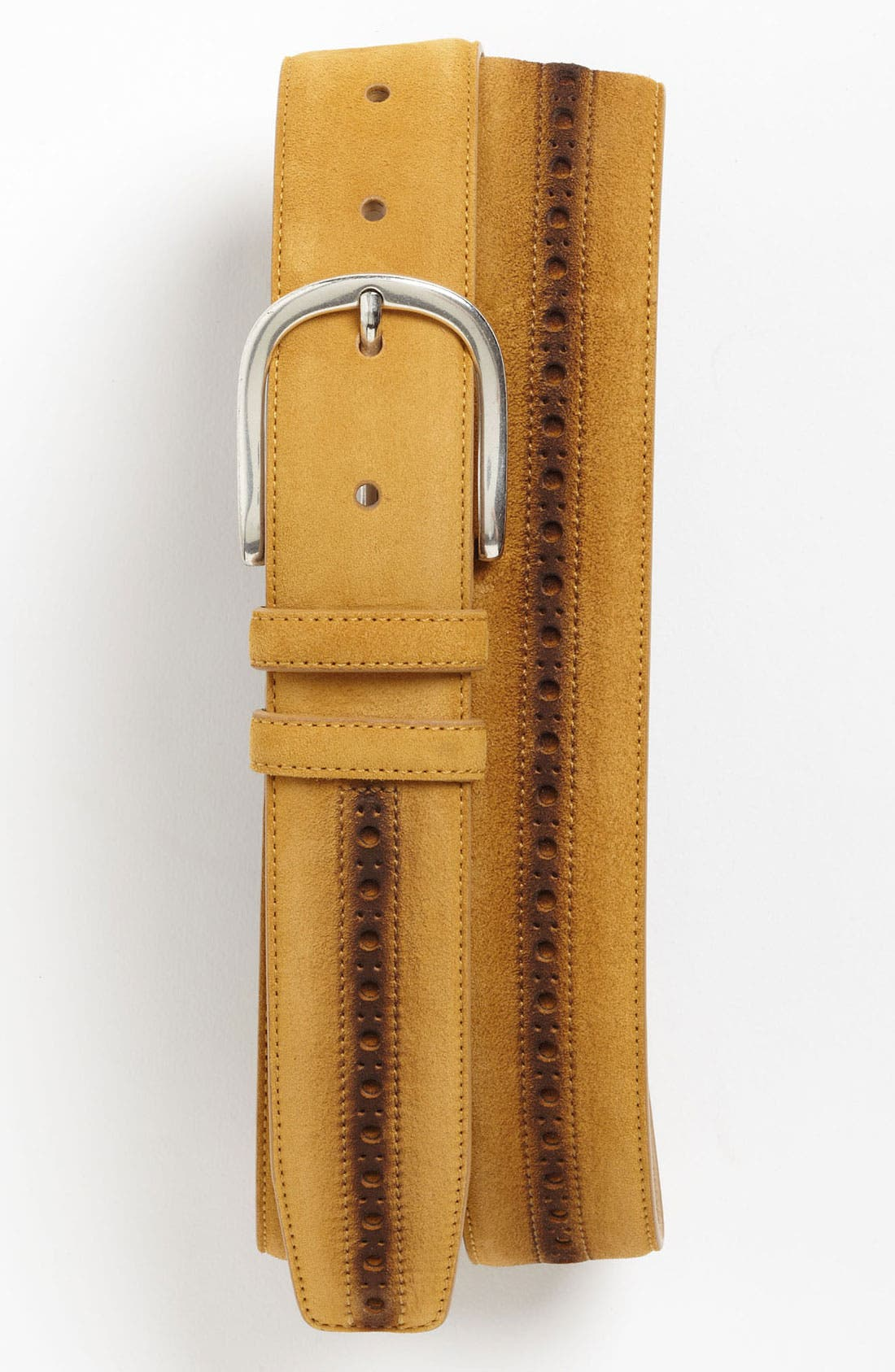 Alternate Image 1 Selected - Mezlan Suede Belt