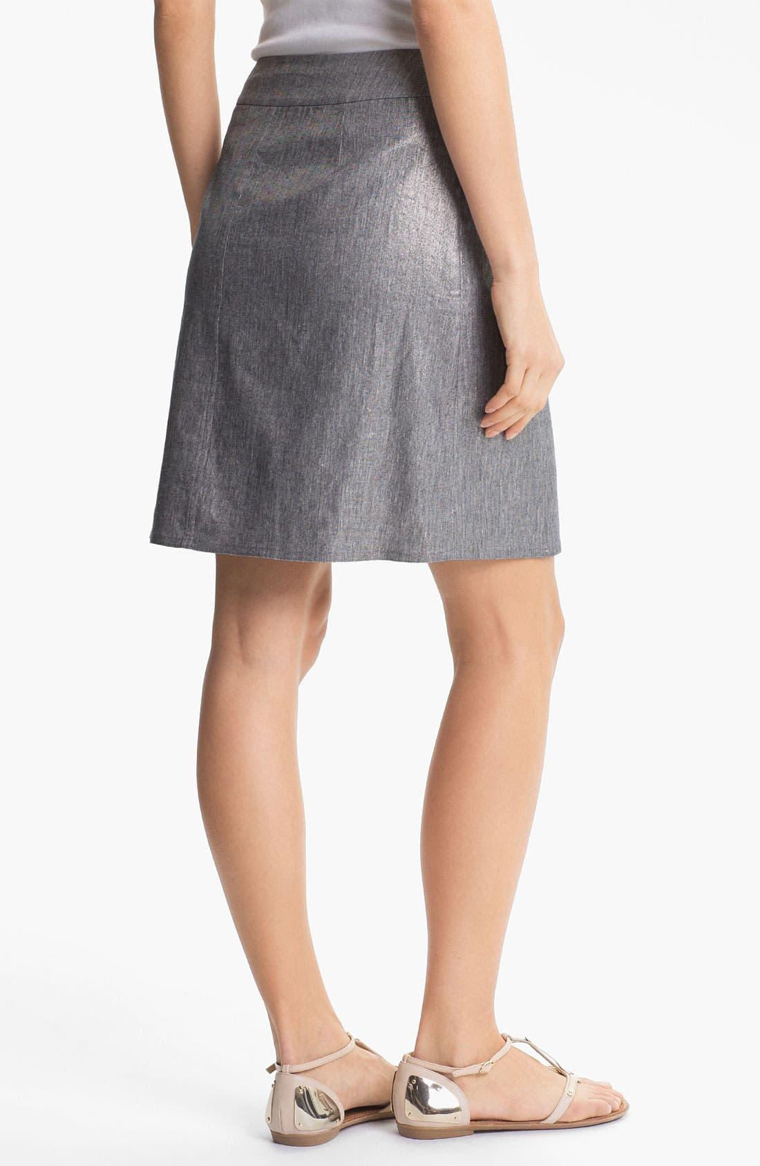 Alternate Image 2  - Eileen Fisher Stretch Linen Blend Wrap Skirt
