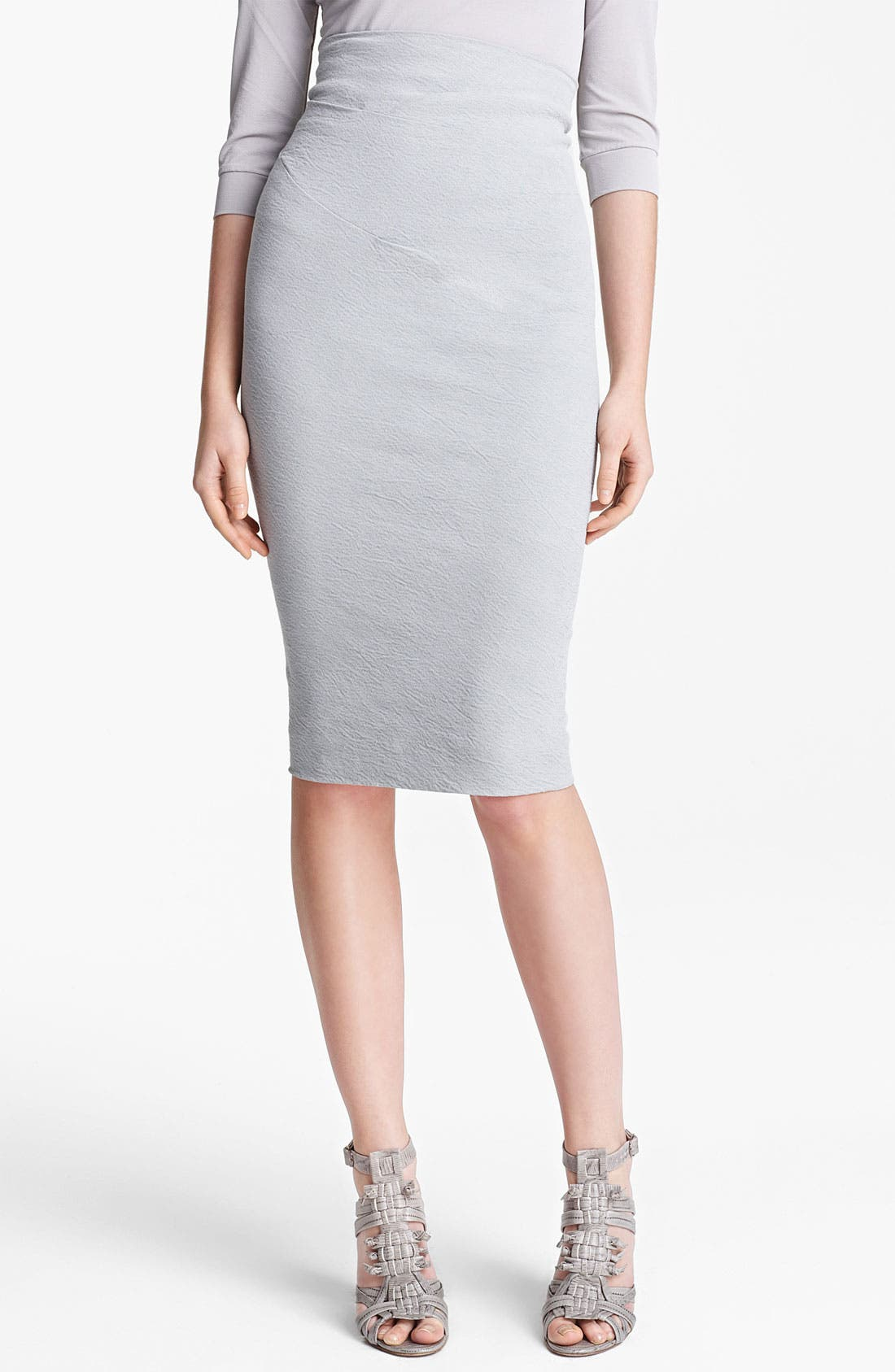 Main Image - Donna Karan Collection Cold Dyed Stretch Canvas Skirt