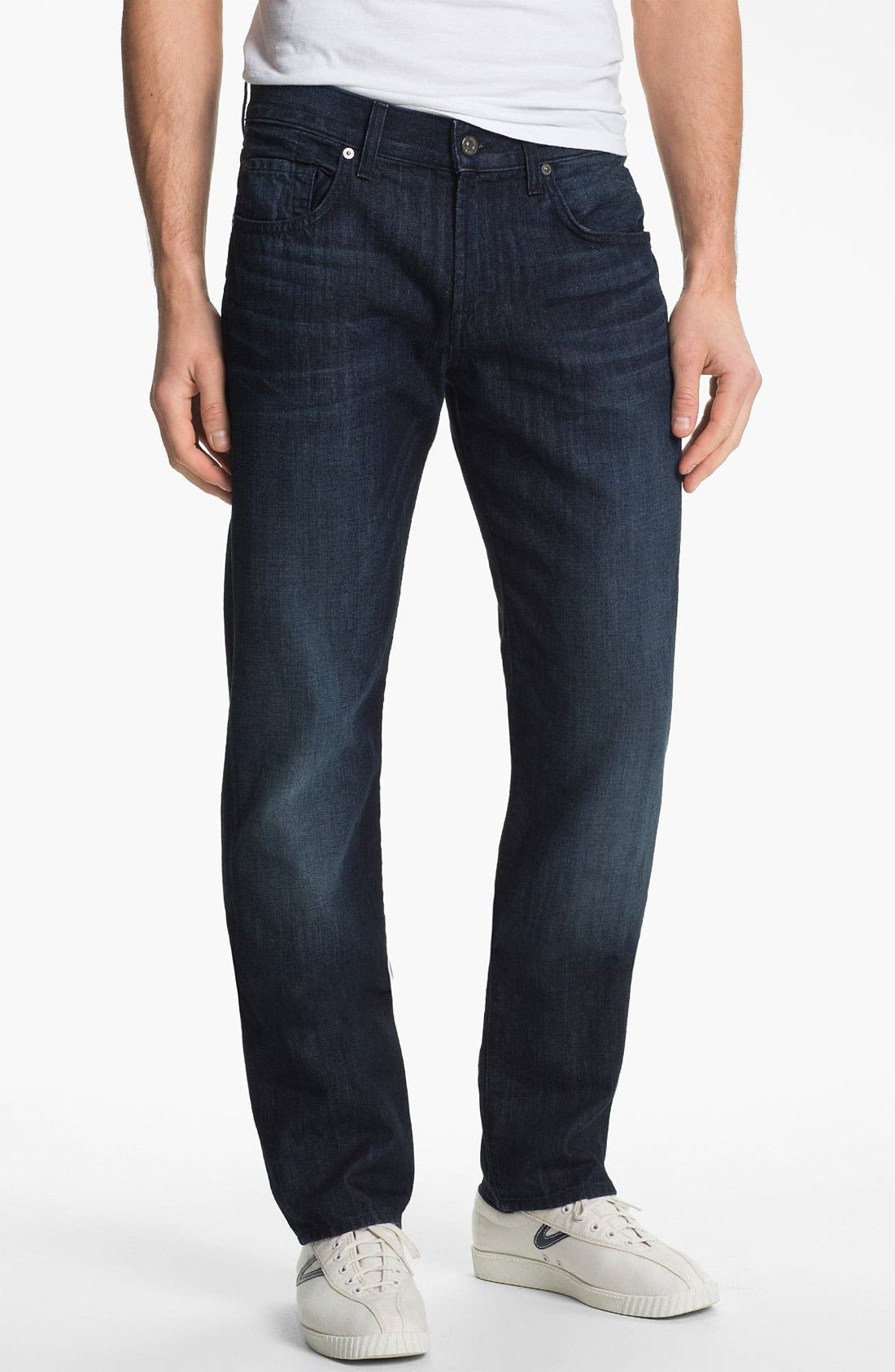 Alternate Image 2  - 7 For All Mankind® 'Slimmy' Slim Straight Leg Jeans (Manhattan Bay)