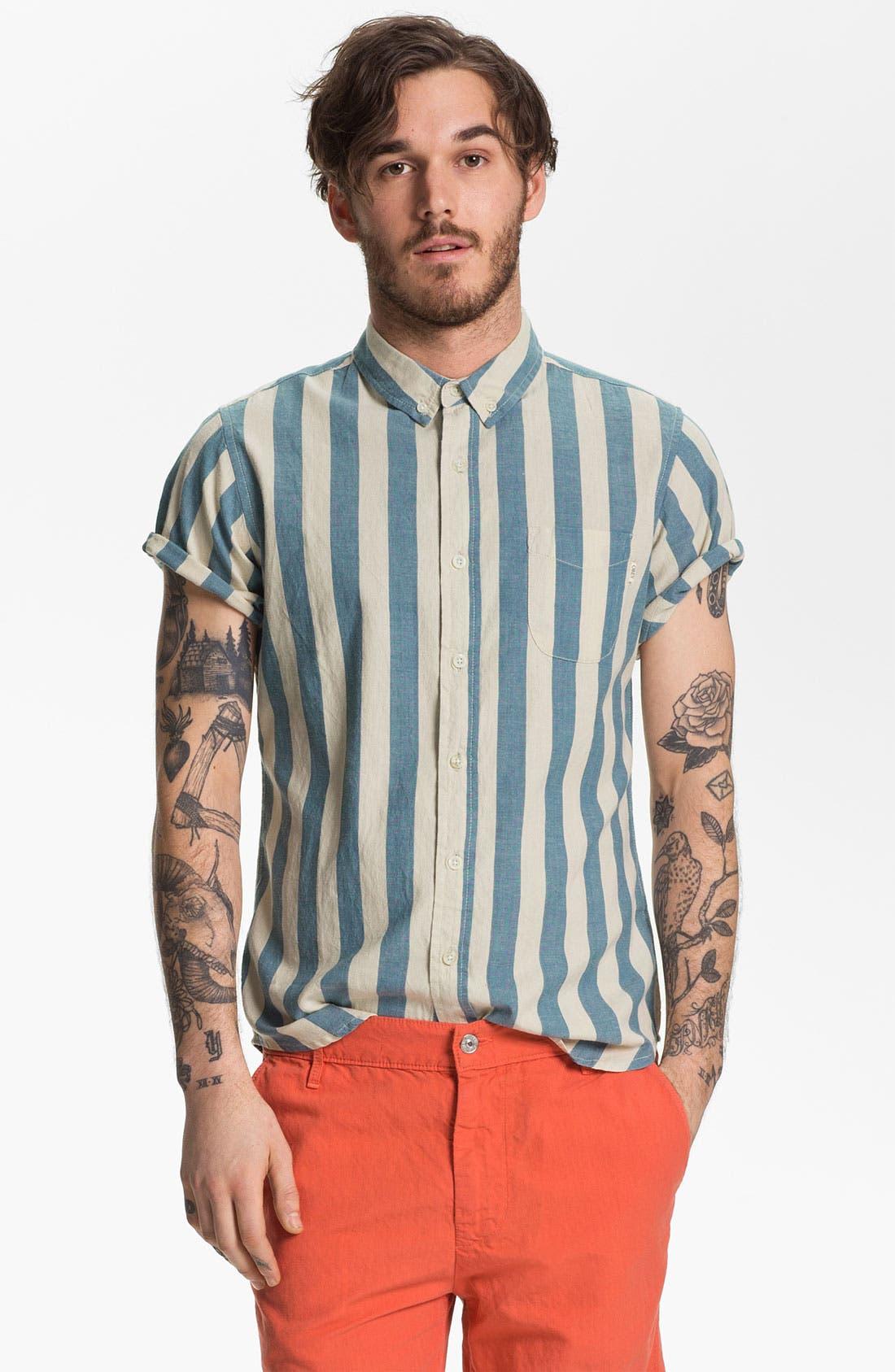 Alternate Image 1 Selected - Obey 'Dreamer' Stripe Woven Shirt
