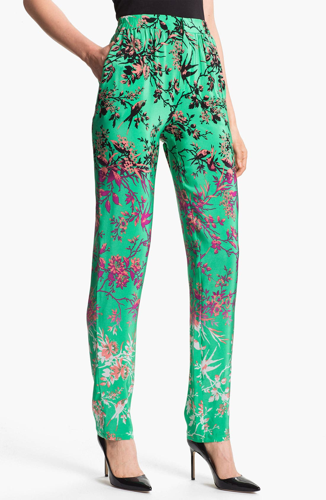 Alternate Image 1 Selected - Nanette Lepore 'Ladi Dadi' Silk Pants