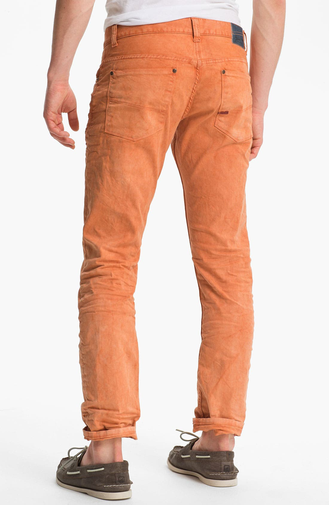 Alternate Image 1 Selected - Gilded Age 'Morrison' Slim Fit Jeans (Apricot)