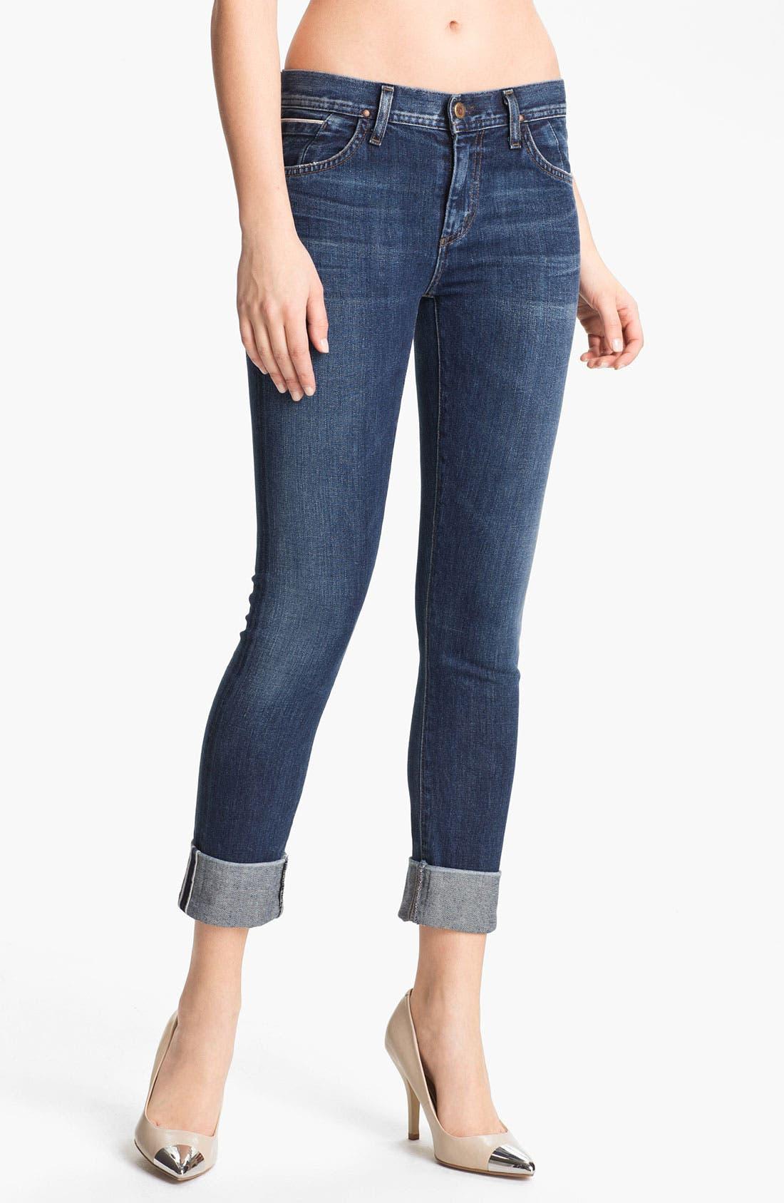 Alternate Image 1 Selected - Goldsign 'Jenny' High Waist Crop Skinny Jeans (Debut)