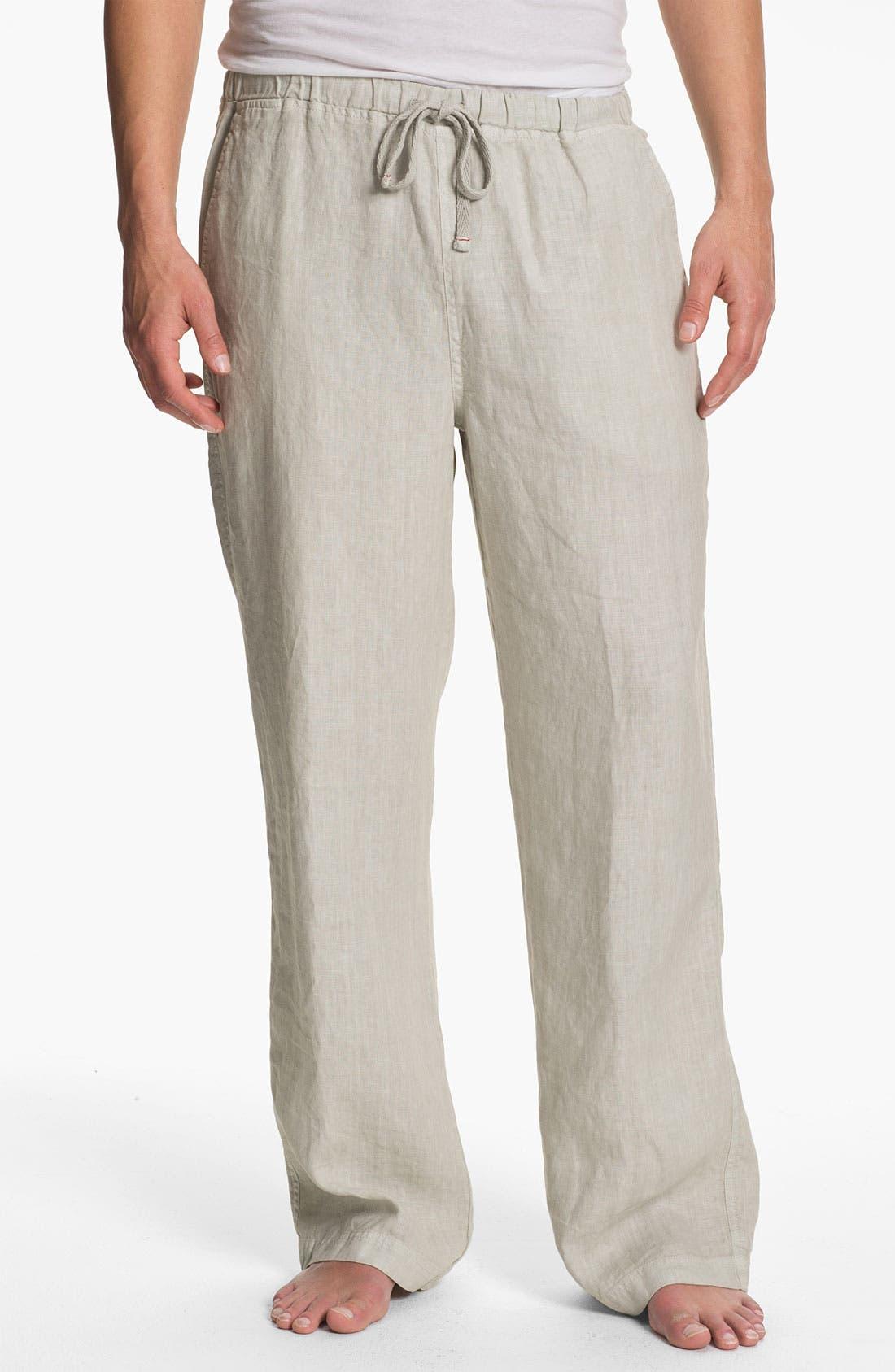 Alternate Image 1 Selected - Daniel Buchler Linen Pants