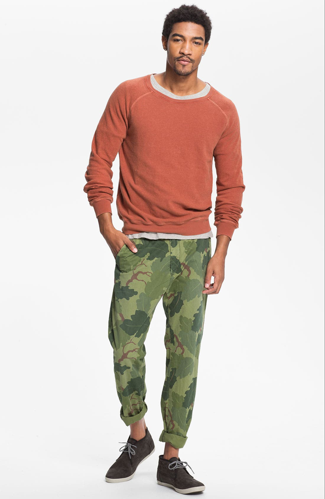 Alternate Image 4  - Scotch & Soda 'Bowie' Camo Print Slim Straight Leg Chinos