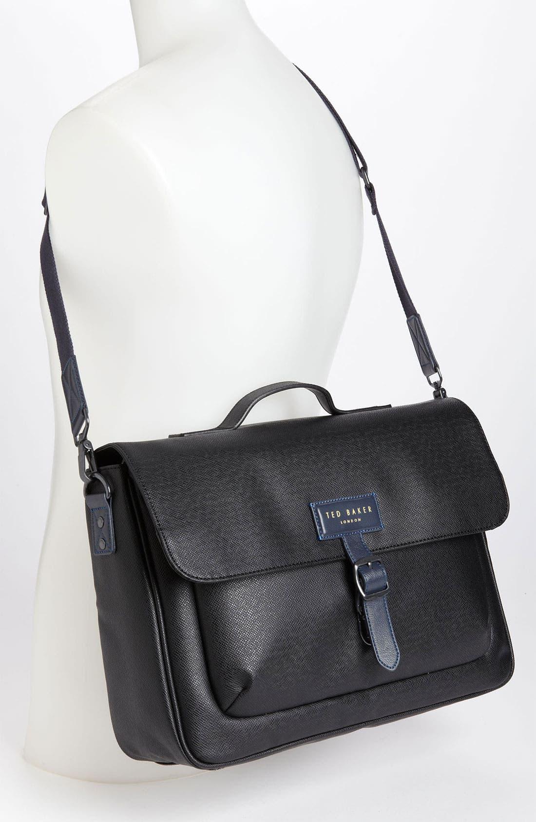 Alternate Image 4  - Ted Baker London 'New Grain' Messenger Bag