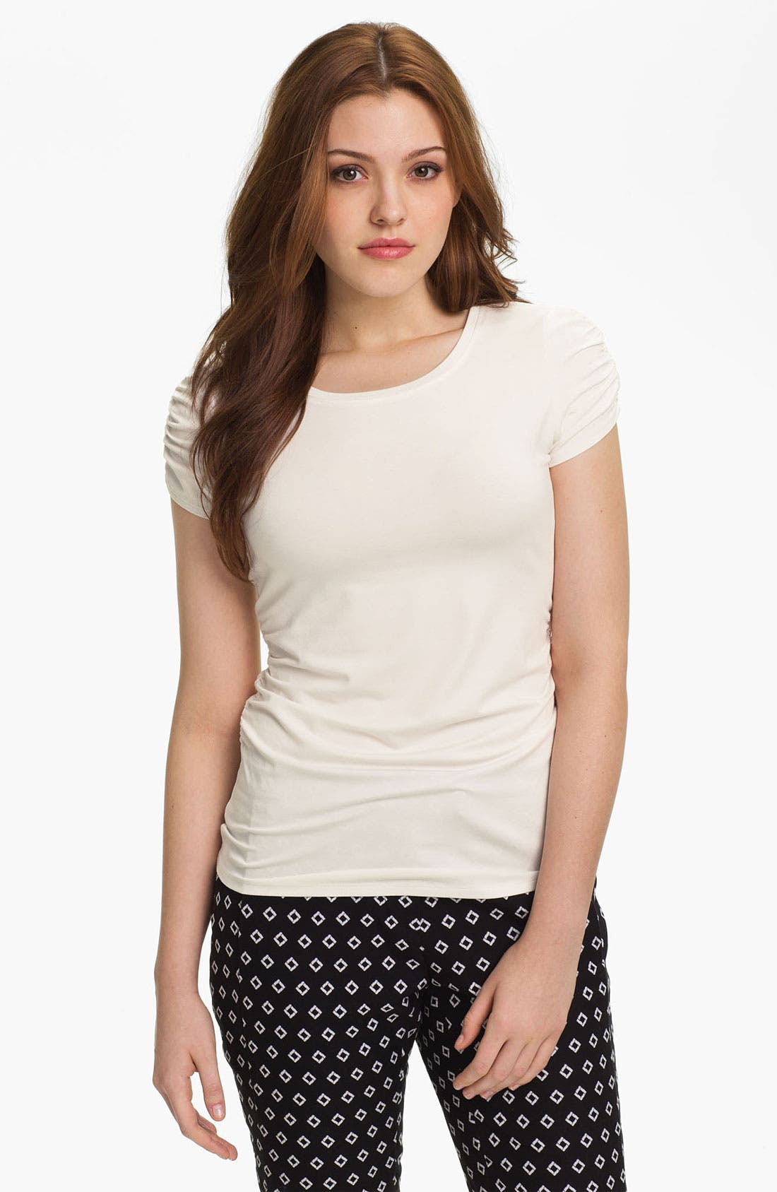 Alternate Image 1 Selected - Vince Camuto Ruched Short Sleeve Tee