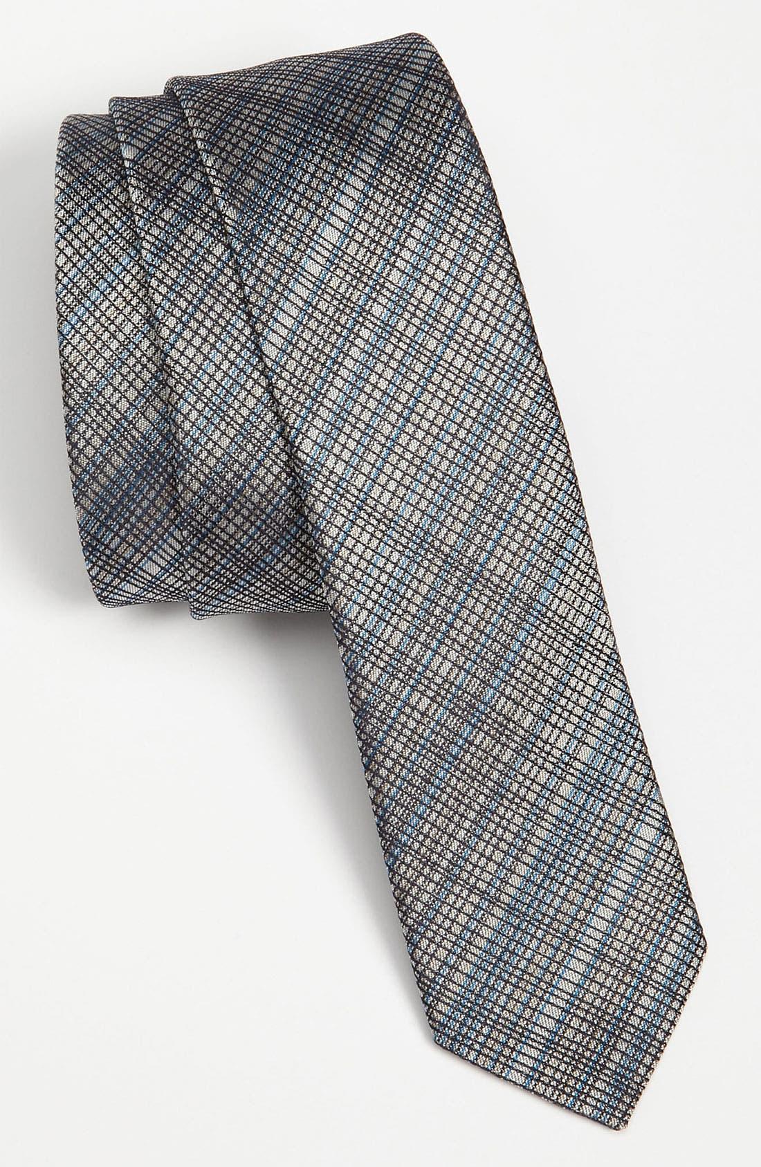 Main Image - HUGO Skinny Woven Silk Tie