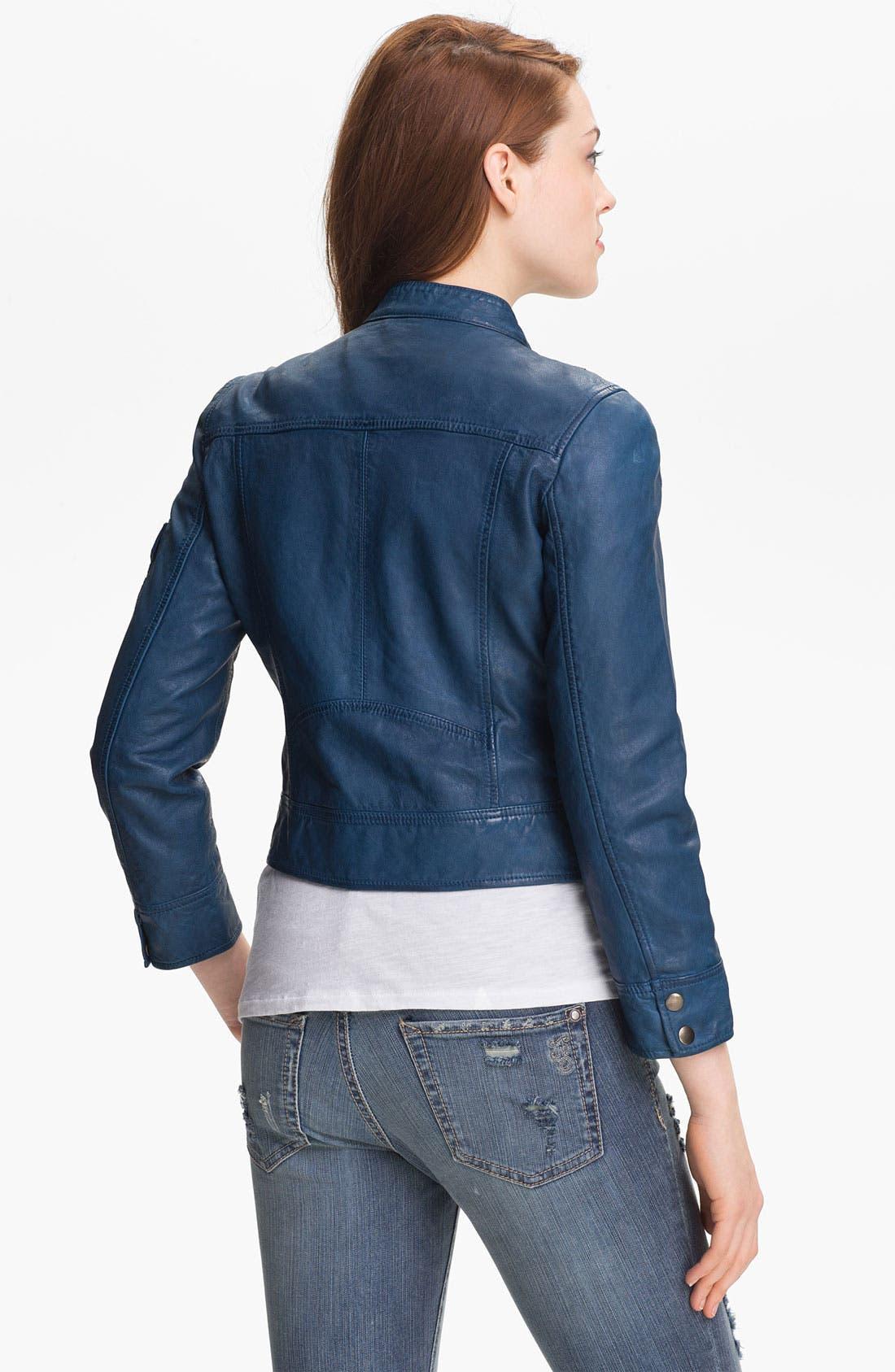 Alternate Image 2  - Lucky Brand 'Belden' Leather Jacket