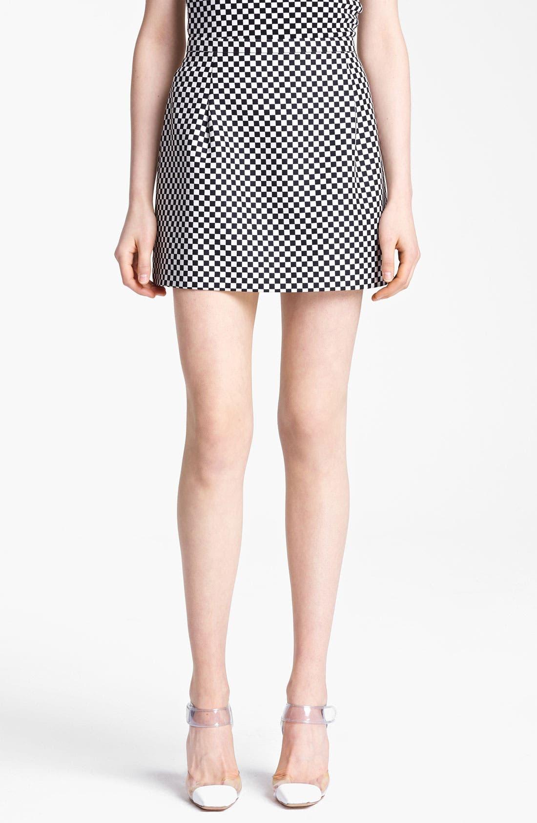 Alternate Image 1 Selected - Michael Kors Optic Check Jacquard Miniskirt