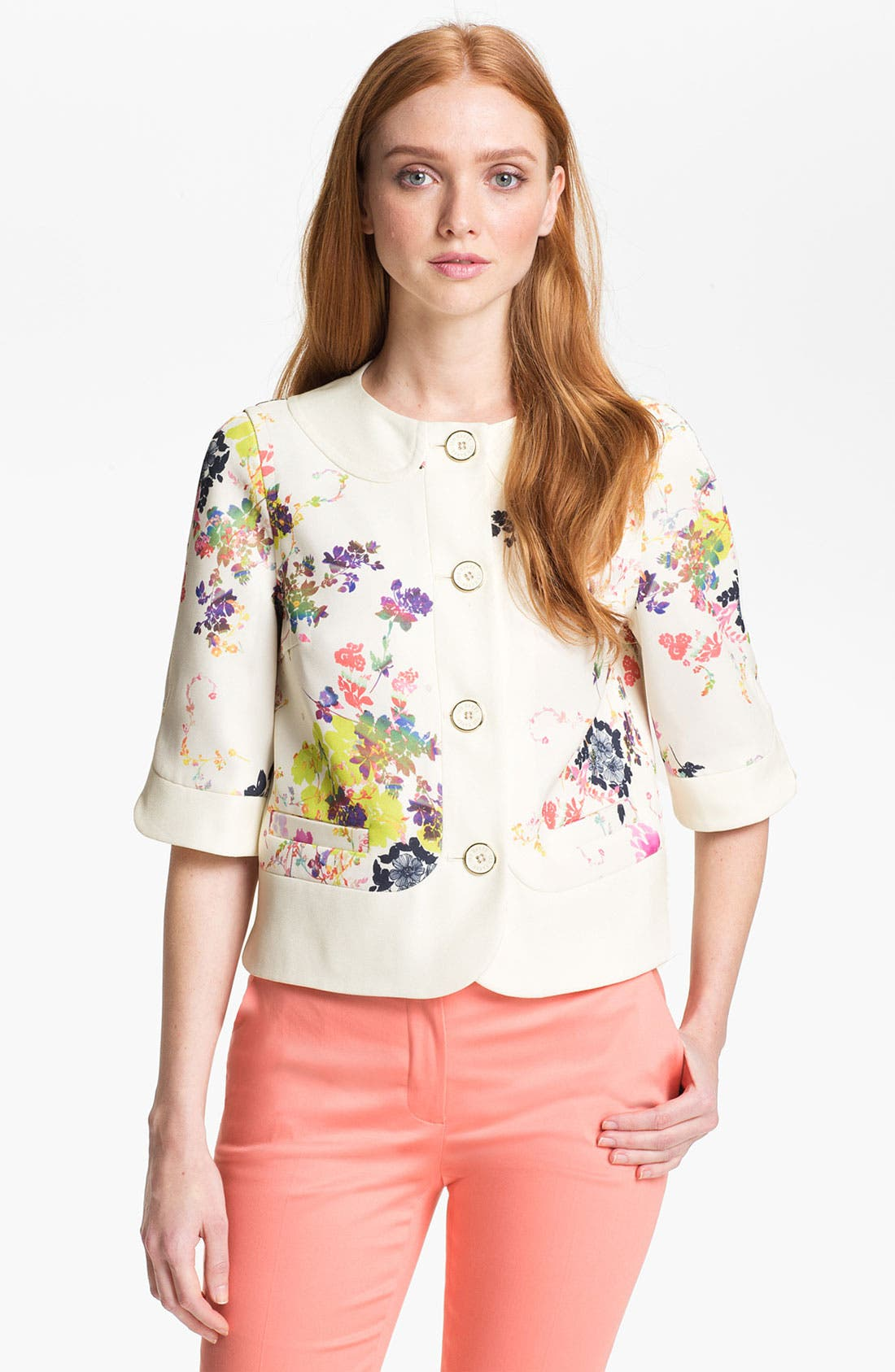 Alternate Image 1 Selected - Ted Baker London 'Summer Bloom' Print Jacket