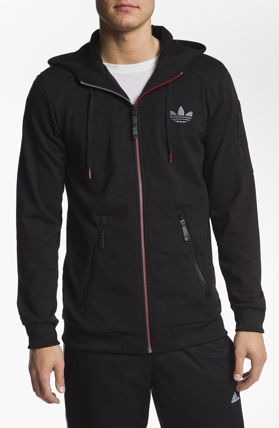Alternate Image 1 Selected - adidas 'C90' Zip Hoodie