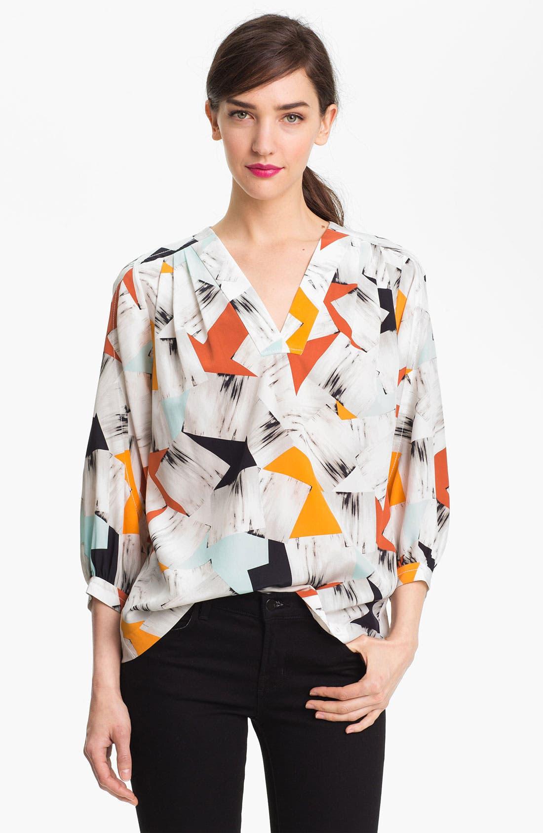 Alternate Image 1 Selected - Diane von Furstenberg 'New Cahil' Silk Blouse