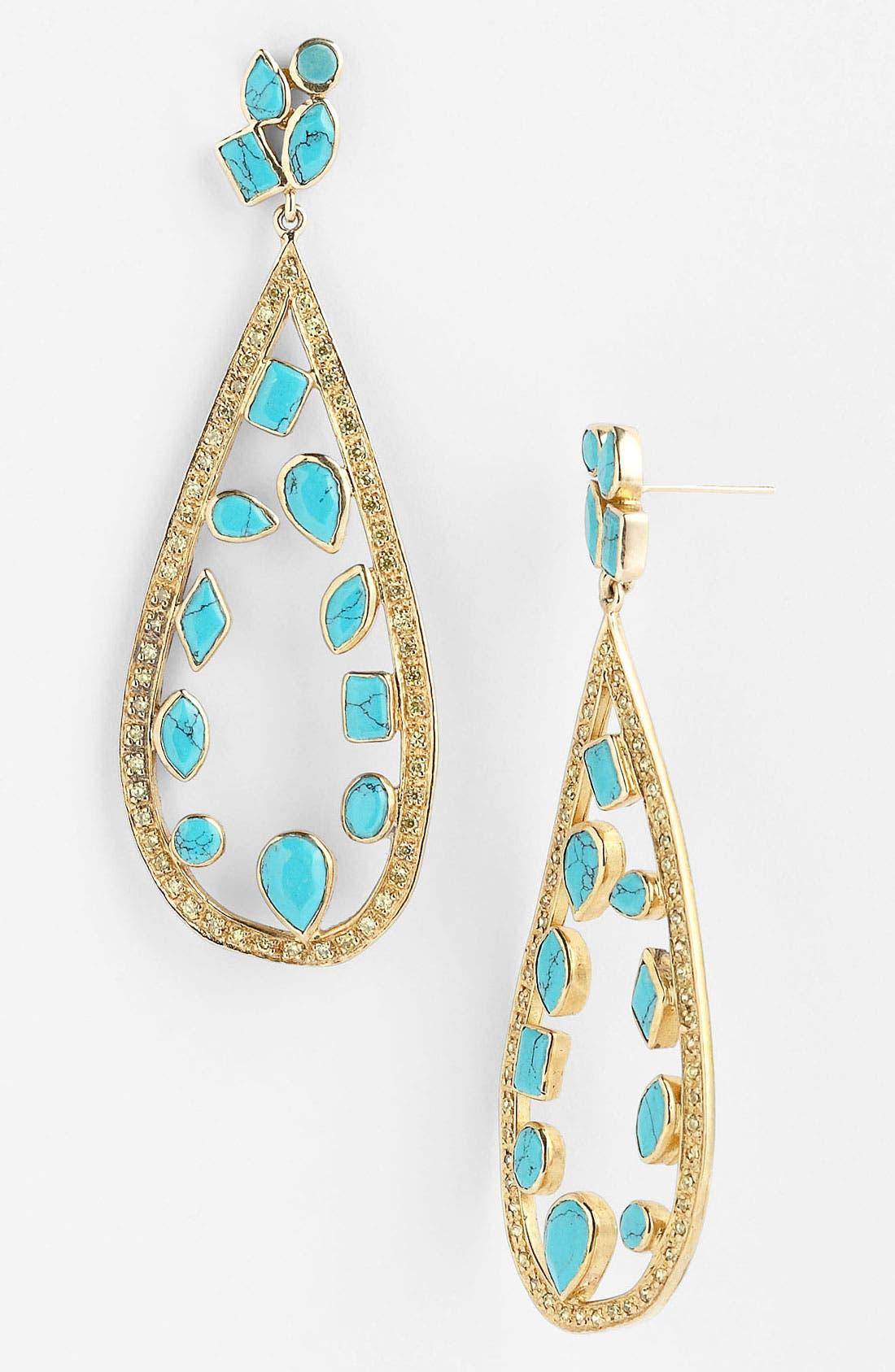 Alternate Image 1 Selected - Melinda Maria 'Floating Mosaic' Open Teardrop Earrings