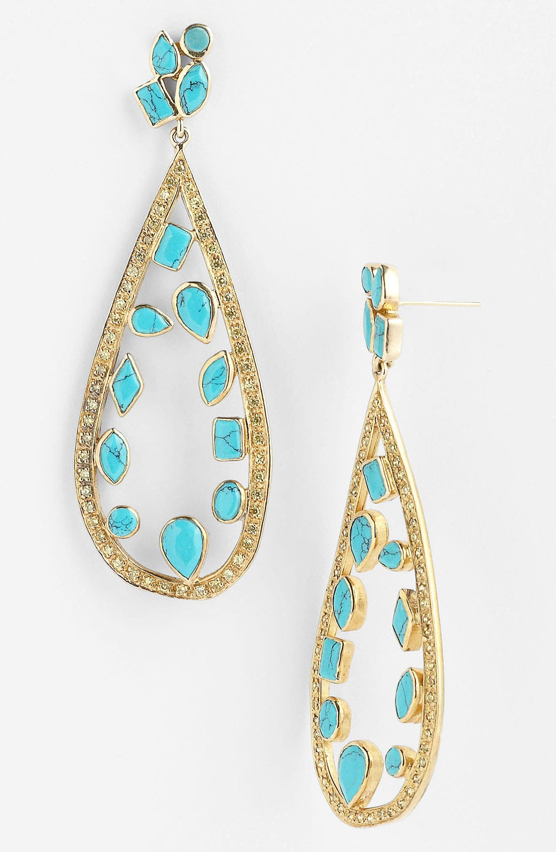 Main Image - Melinda Maria 'Floating Mosaic' Open Teardrop Earrings