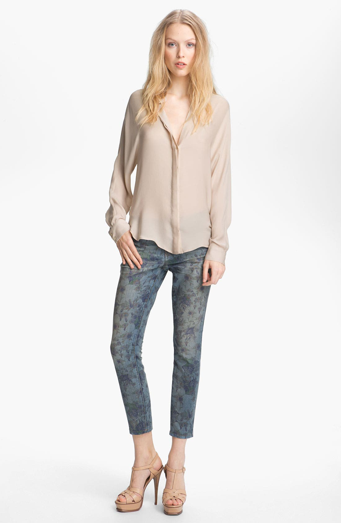 Alternate Image 2  - Current/Elliott 'The Stiletto' Burnout Floral Print Stretch Jeans