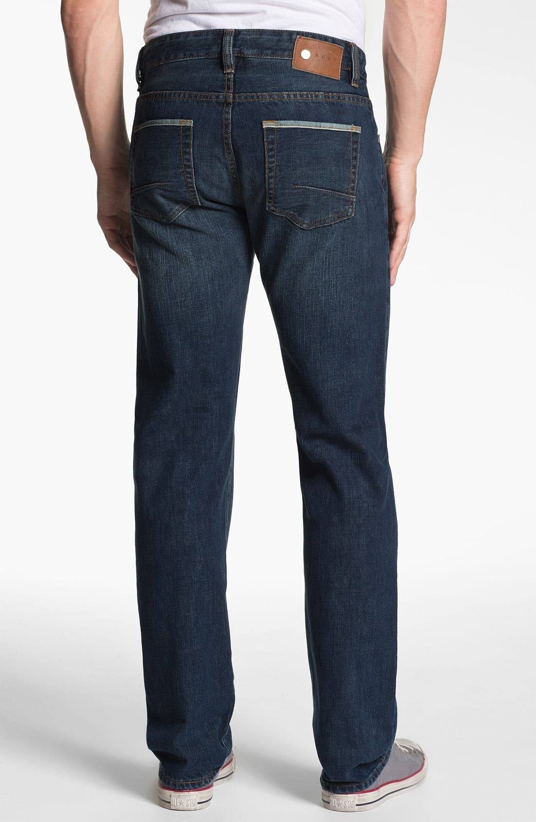 Alternate Image 2  - ROAD 'Selvedge' Straight Fit Jeans (Dark Wash)