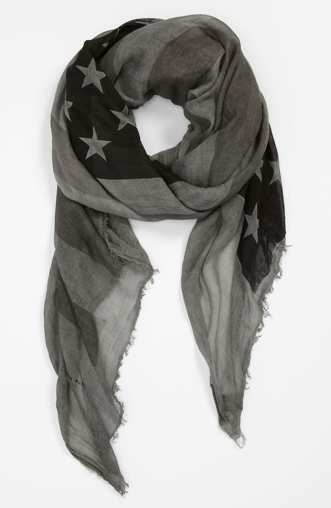 Main Image - John Varvatos Collection Flag Print Scarf