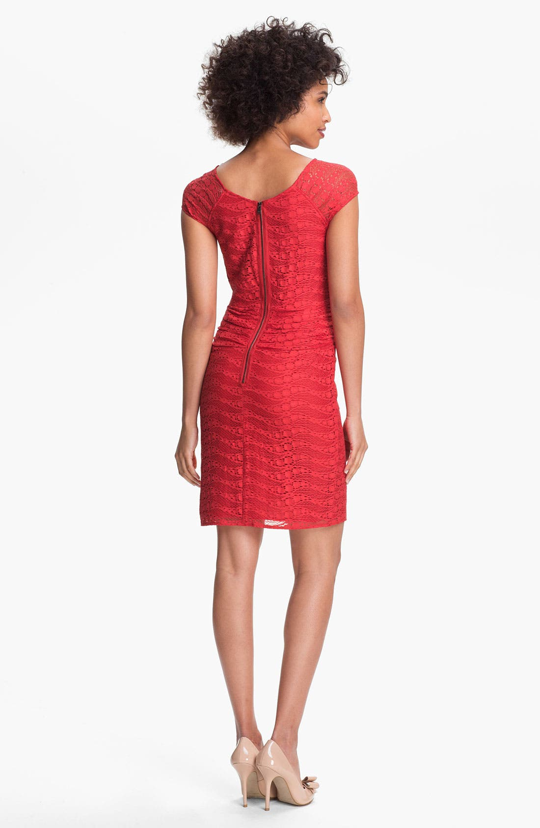 Alternate Image 2  - Marc New York by Andrew Marc Lace Sheath Dress