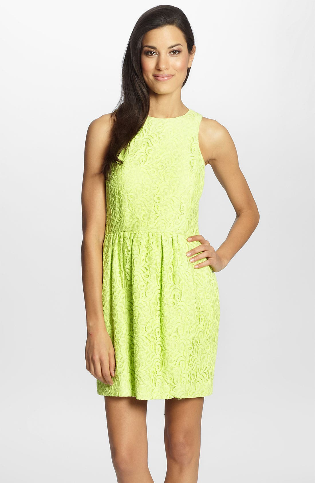Main Image - Cynthia Steffe 'Charlize' Lace Fit & Flare Dress