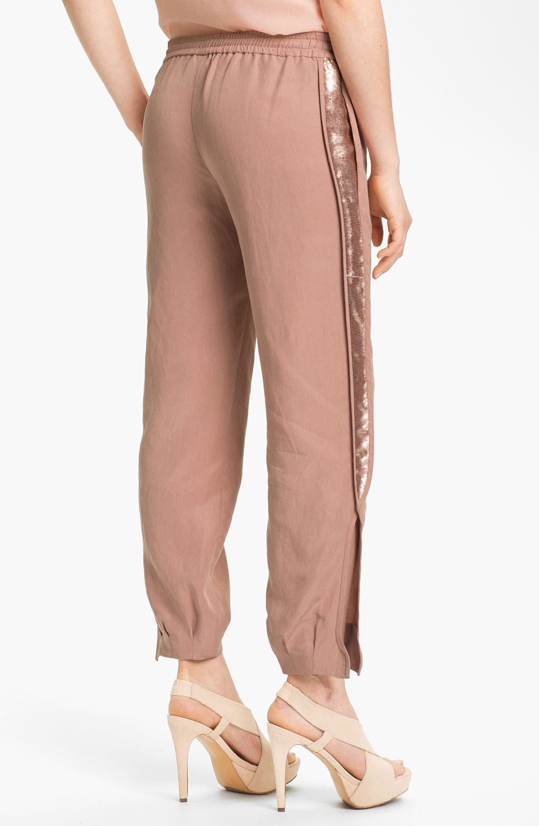 Alternate Image 2  - Diane von Furstenberg 'Kamaris' Sequin Tuxedo Stripe Pants