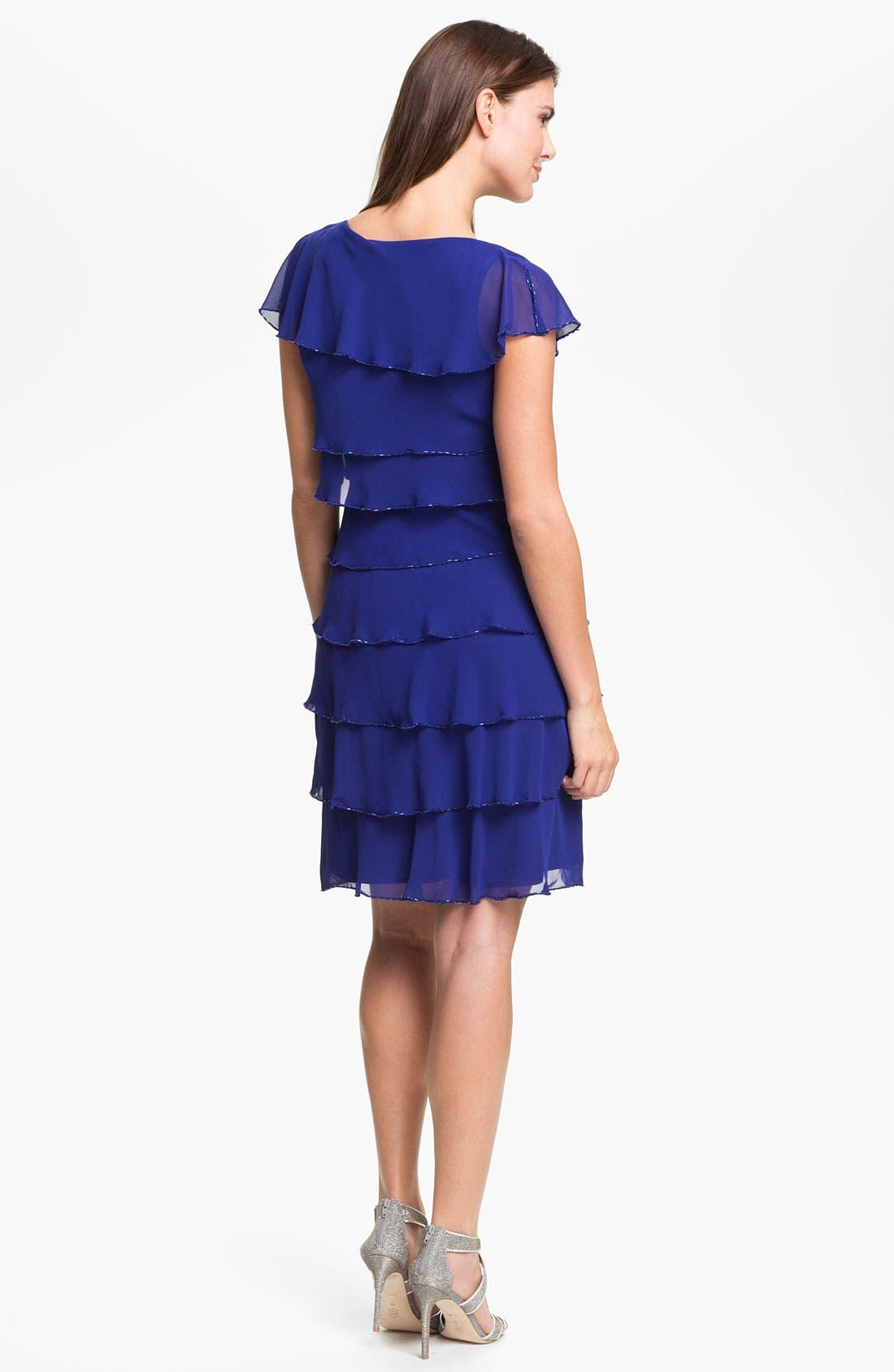 Alternate Image 2  - Patra Embellished Layered Chiffon Dress