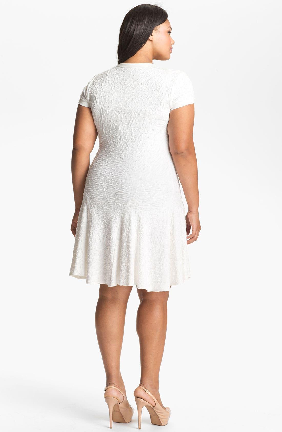 Alternate Image 2  - A.B.S. by Allen Schwartz Textured Drop Waist Dress (Plus Size) (Online Only)