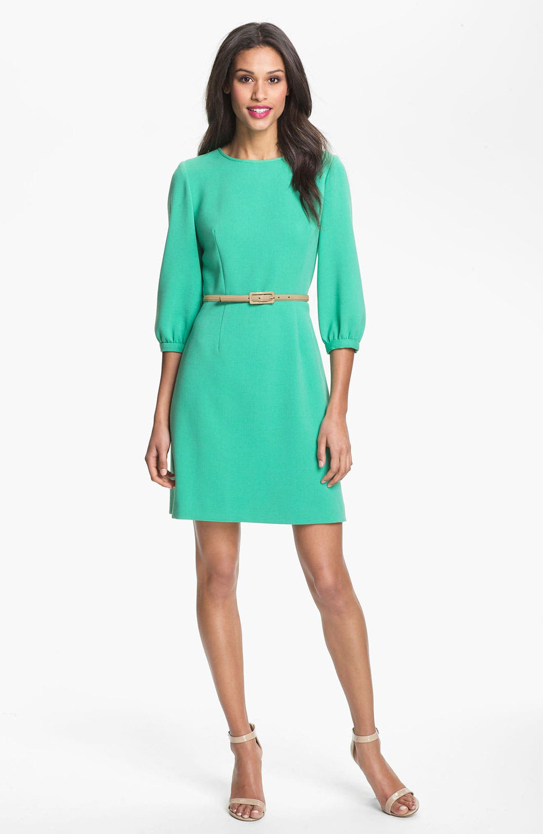 Alternate Image 1 Selected - Eliza J Blouson Sleeve Belted A-Line Dress