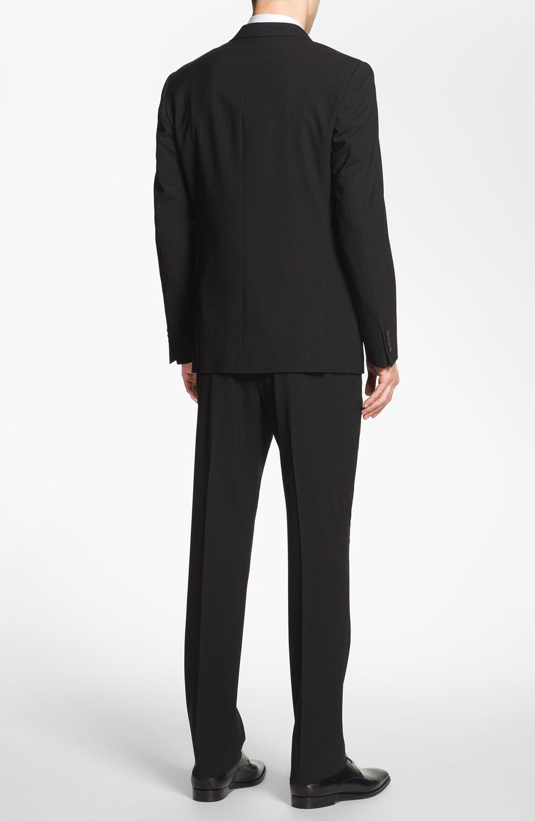 Alternate Image 2  - Michael Kors Trim Fit Stretch Wool Suit