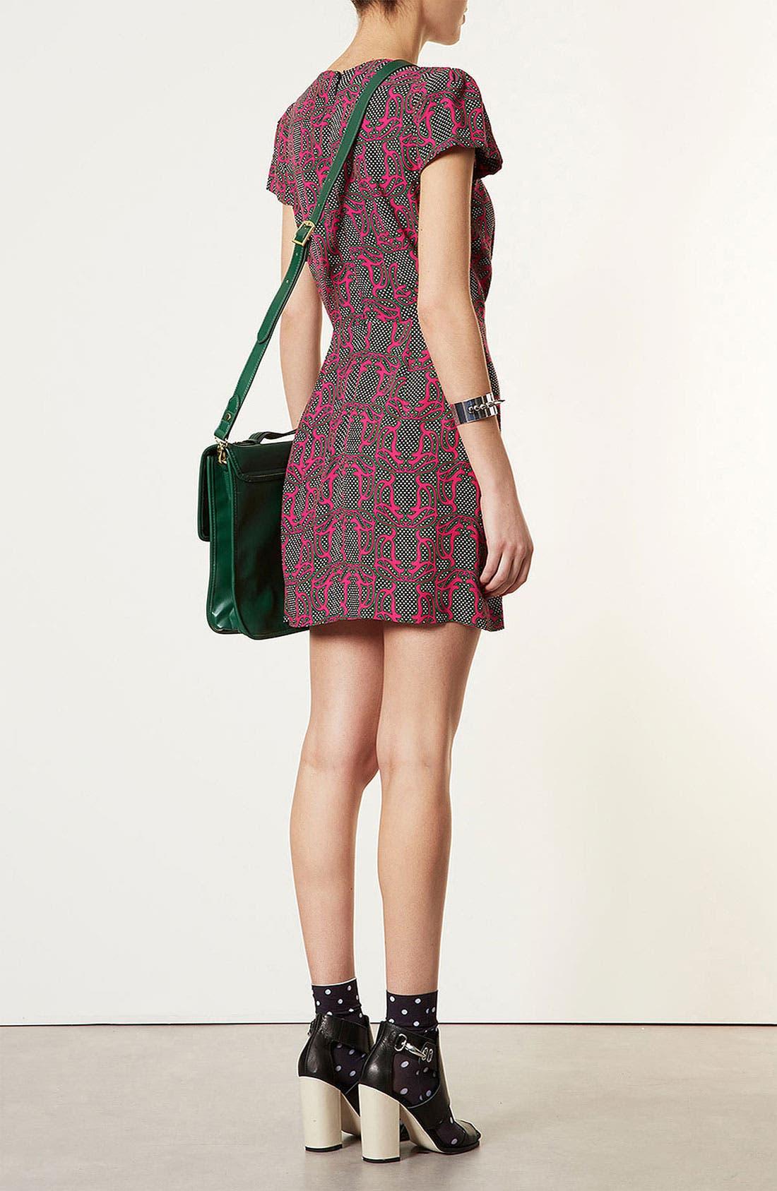 Alternate Image 2  - Topshop 'Darcy' Vintage Print Dress