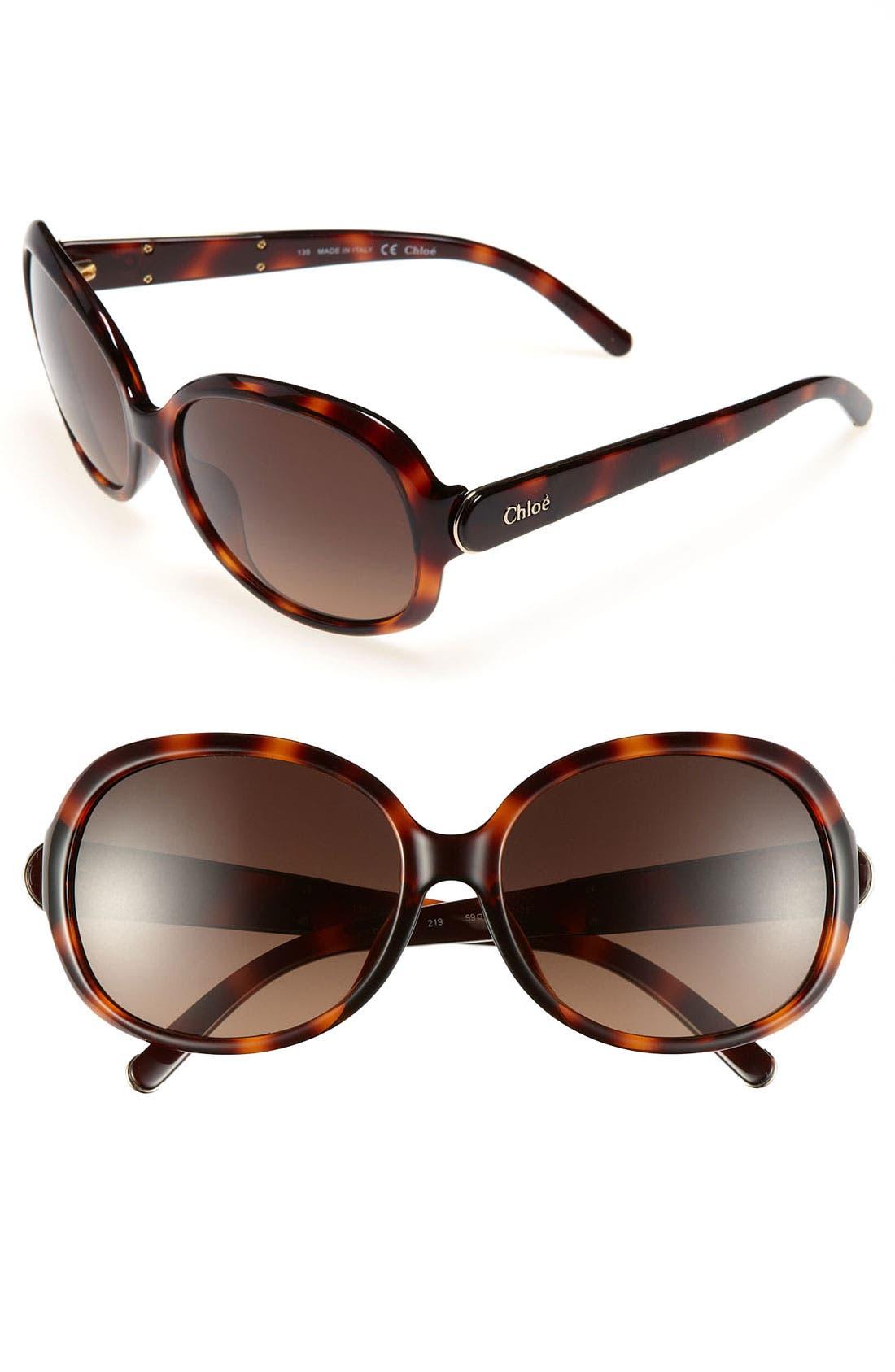 Alternate Image 1 Selected - Chloé 59mm Oversized Sunglasses (Online Only)