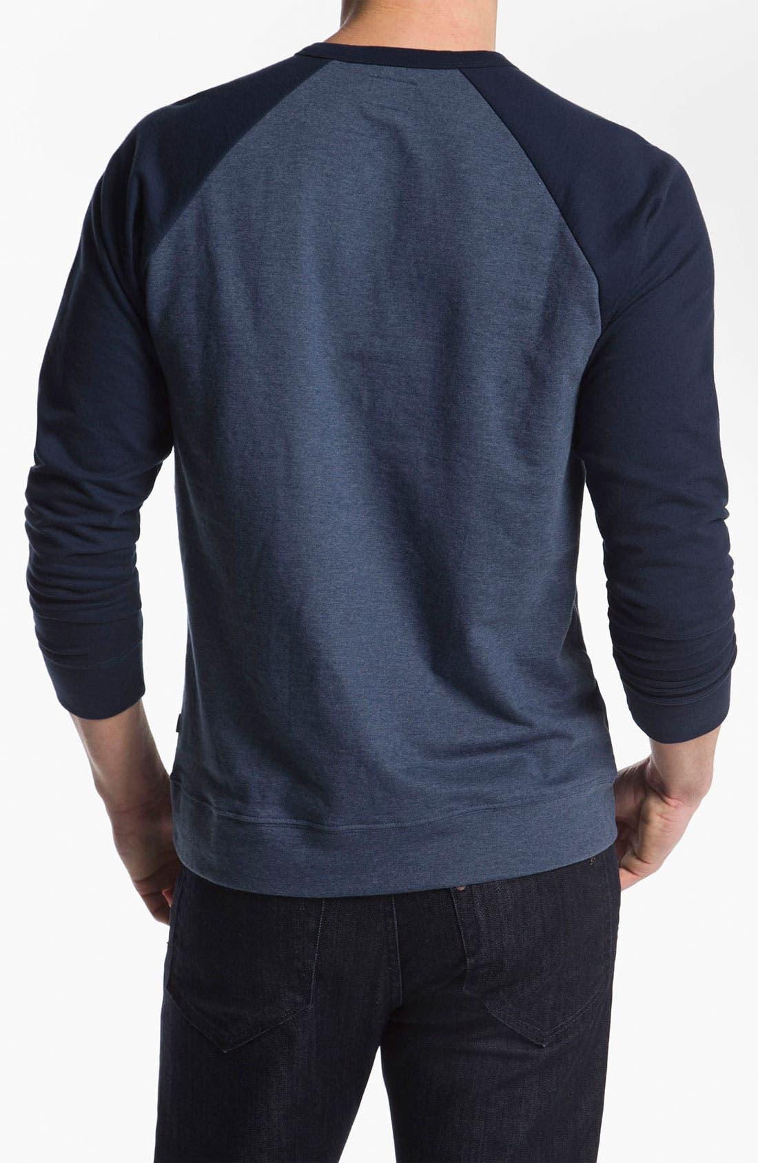 Alternate Image 2  - Obey 'Schmidt' Raglan Sleeve Henley Sweatshirt