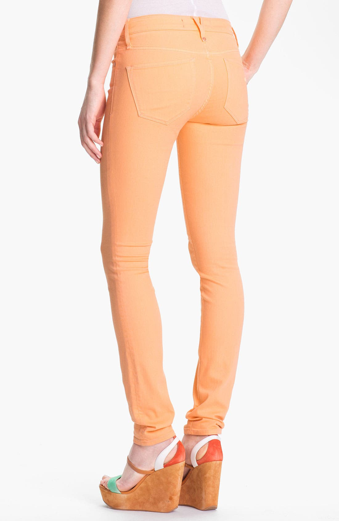 Alternate Image 2  - MARC BY MARC JACOBS 'Gaia' Colored Super Skinny Stretch Jeans (Apricot)