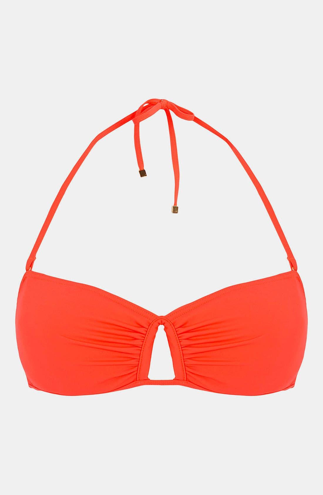 Main Image - Topshop Cutout Bandeau Bikini Top