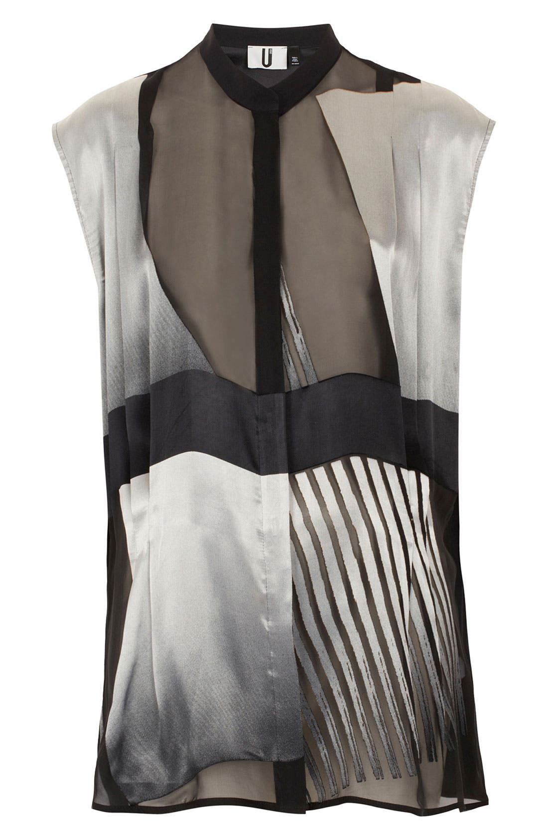 Alternate Image 1 Selected - Topshop Unique Oversized Silk Devore Shirt