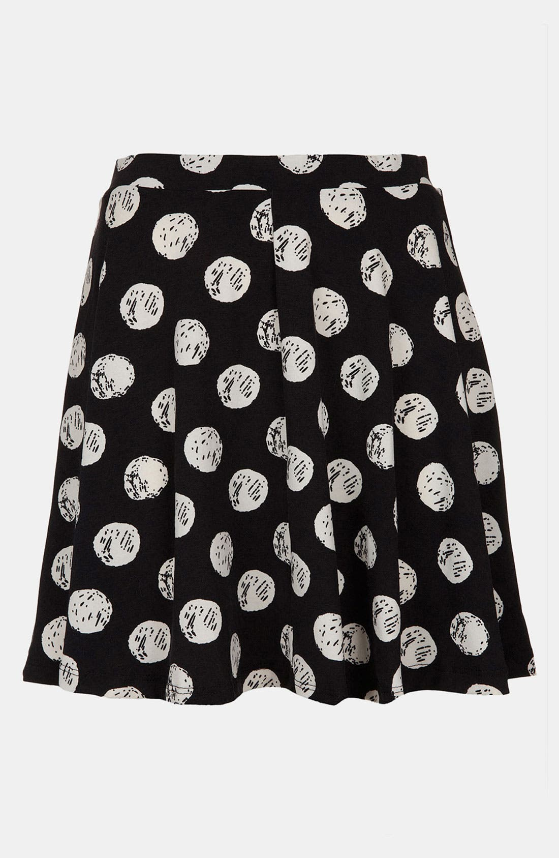 Alternate Image 2  - Topshop Polka Dot Print Skater Skirt (Regular & Petite)