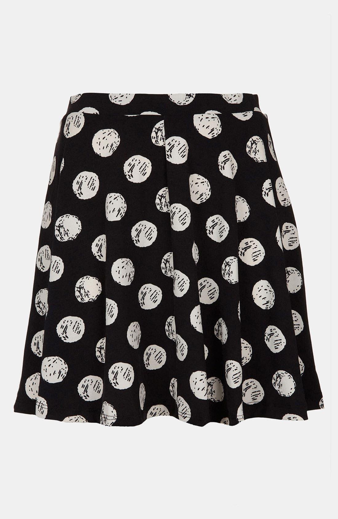Alternate Image 2  - Topshop Polka Dot Print Skater Skirt (Regular & Petite)