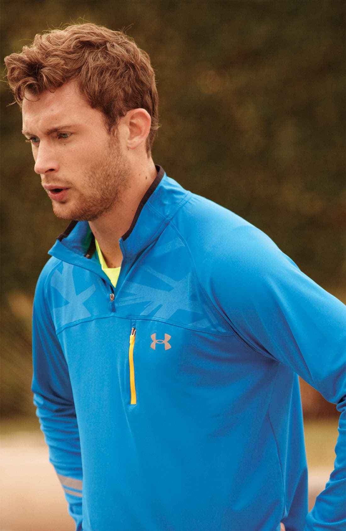 Alternate Image 6  - Under Armour 'Imminent Run' Quarter Zip Pullover