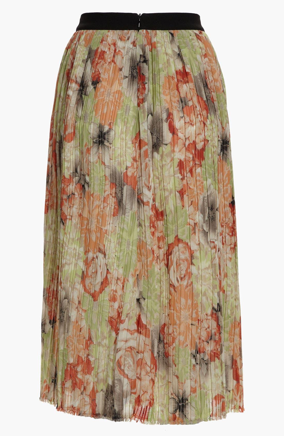 Alternate Image 2  - Like Mynded Midi Floral Skirt