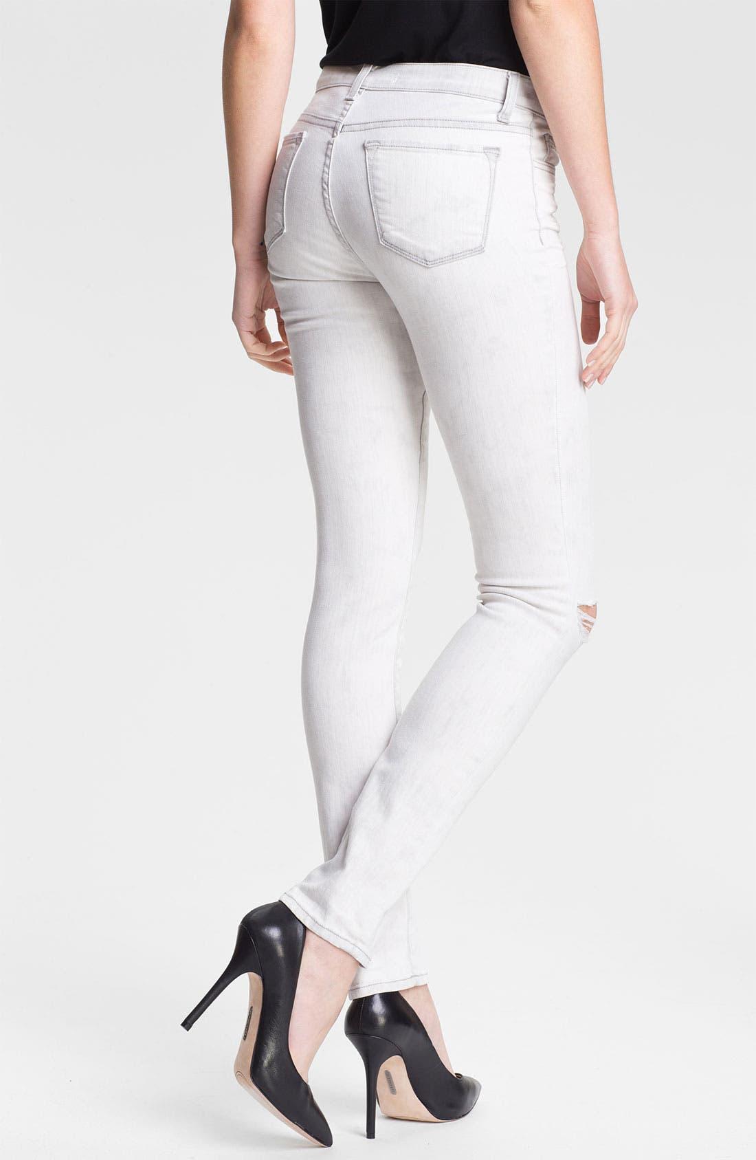 Alternate Image 2  - J Brand 'Rail' Destroyed Skinny Jeans (Commotion)