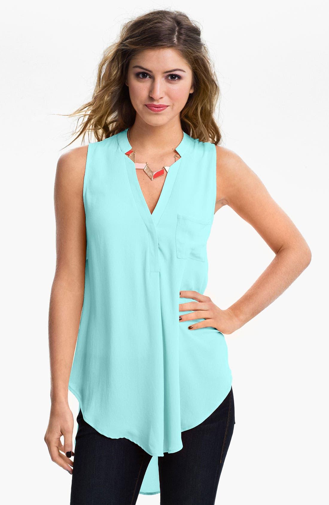 Alternate Image 1 Selected - Lush Flowy Tunic Shirt (Juniors)